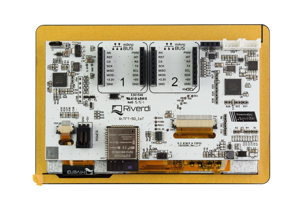 LCD display module / 800 x 480 / programmable / industrial