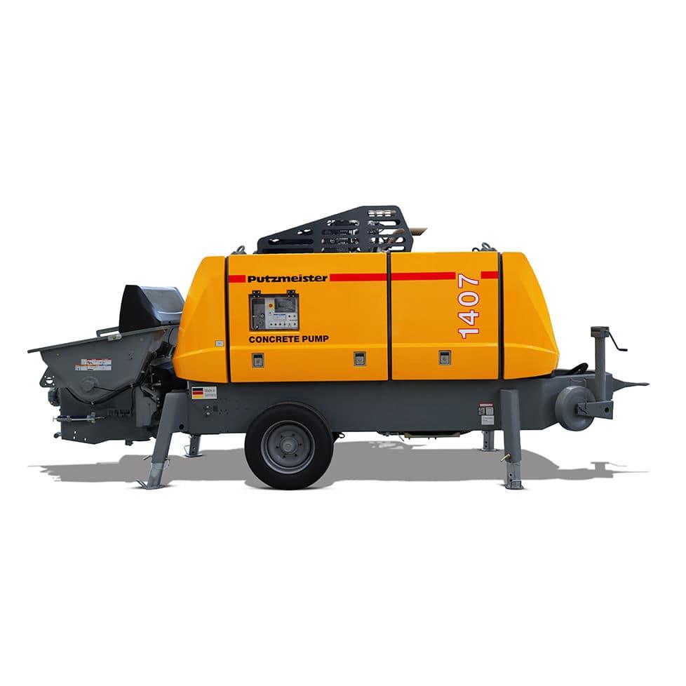 Stationary concrete pump / for construction - BSA 1407 D4