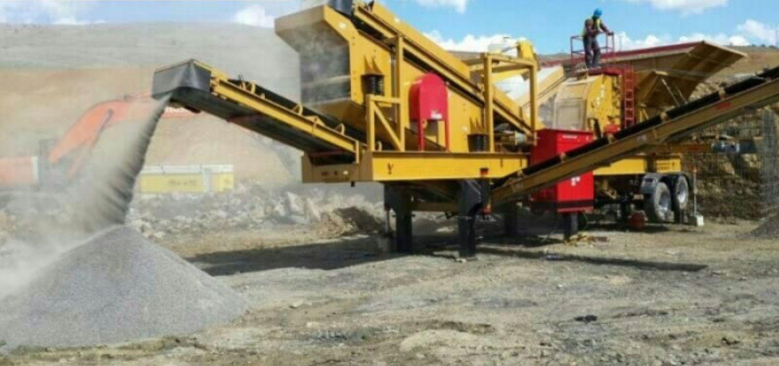 Impact crushing and screening plant - DM 9 - DM CRUSHER - mobile / primary  / high-capacity