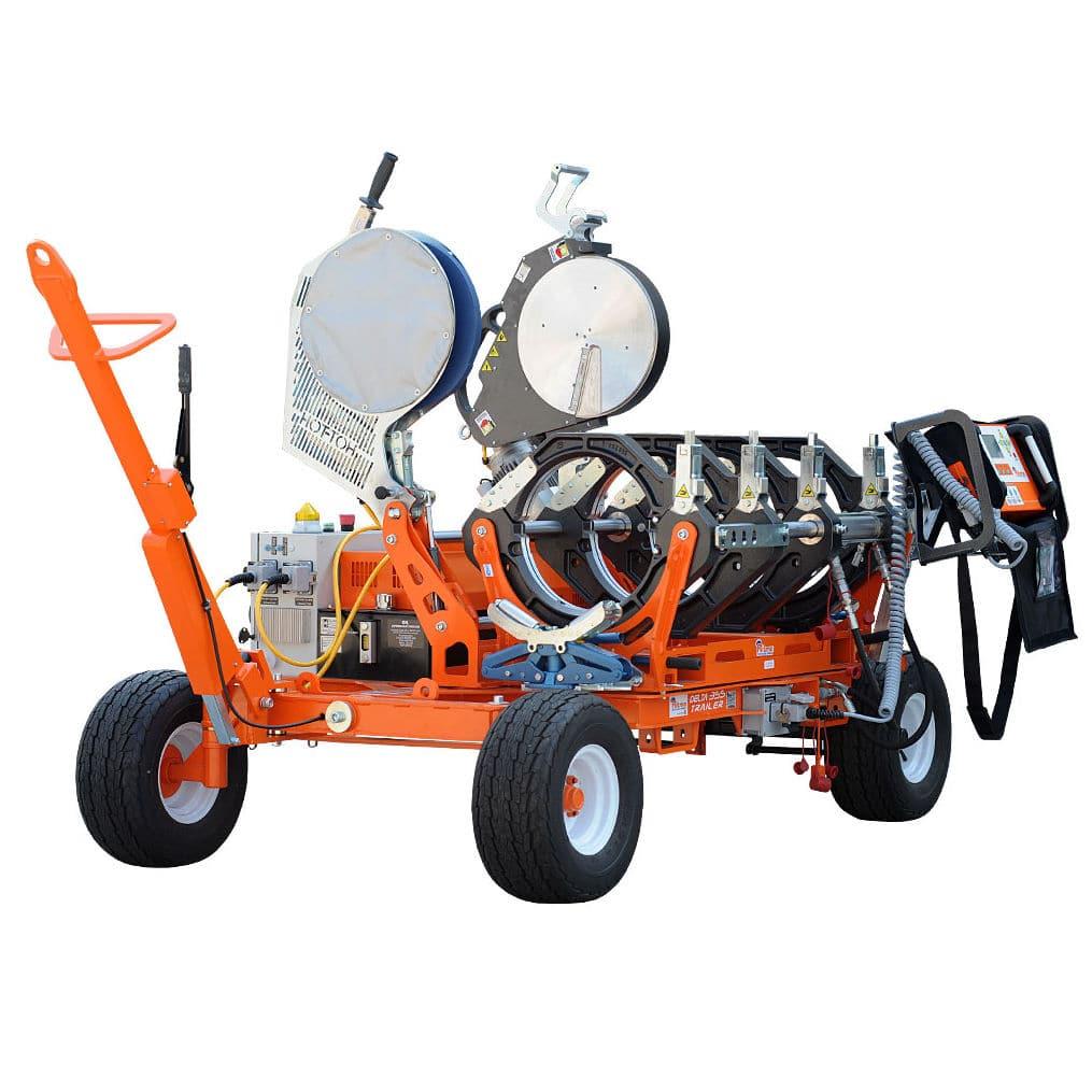 Butt welding machine / AC / for plastic pipe - DELTA 355