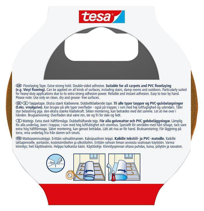 tesa® Verlegeband extra stark klebend 5 m x 50 mm