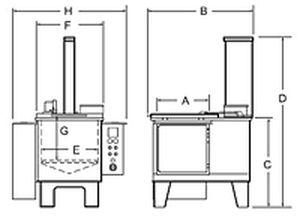 Ultrasonic cleaning system / manual - 47 gal | TUS24 - Graymills