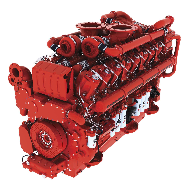Cummins Diesel Engines >> Diesel Engine 16 Cylinder Turbocharged For Mining