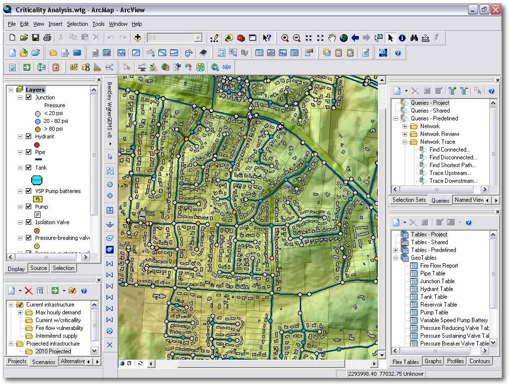 Design Software Watergems Watercad Hammer Bentley Systems Europe B V For Water Systems