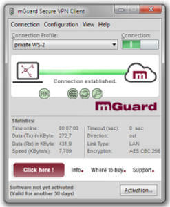 Security and access control software - mGuard VPN Client