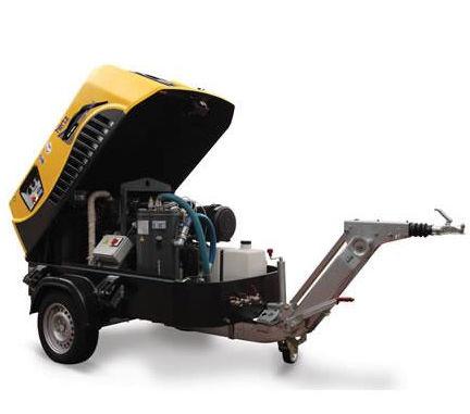 Air compressor / mobile / diesel-powered / screw - HPA 340