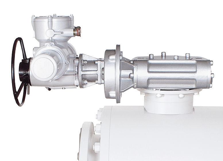 Manual valve actuator / quarter-turn / worm gear / with
