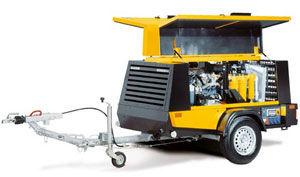 Mobile Air Compressor >> Air Compressor Mobile Diesel Powered Screw Mobilair