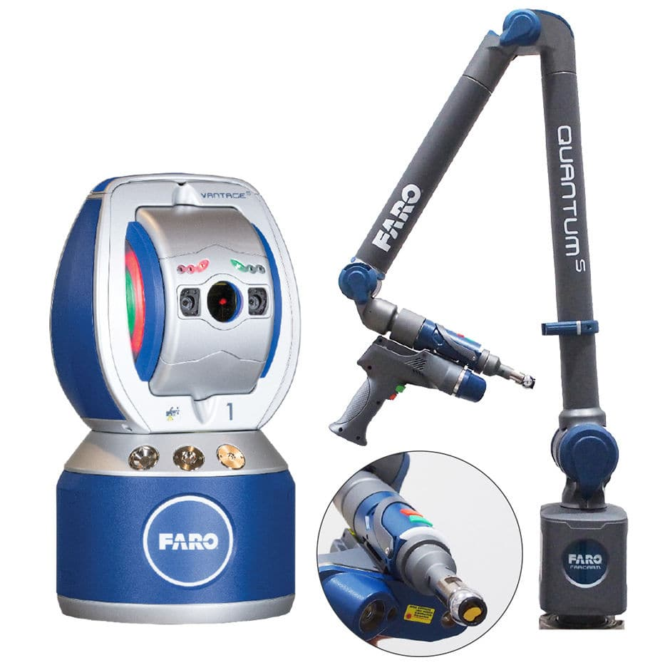 Portable 3d Measuring Arm 6dof Trackarm Faro With Integrated Laser Scanner