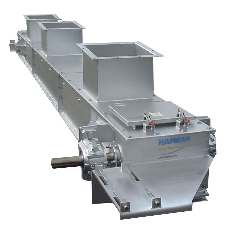 Drag chain conveyor / for bulk materials / drag / horizontal Hapman