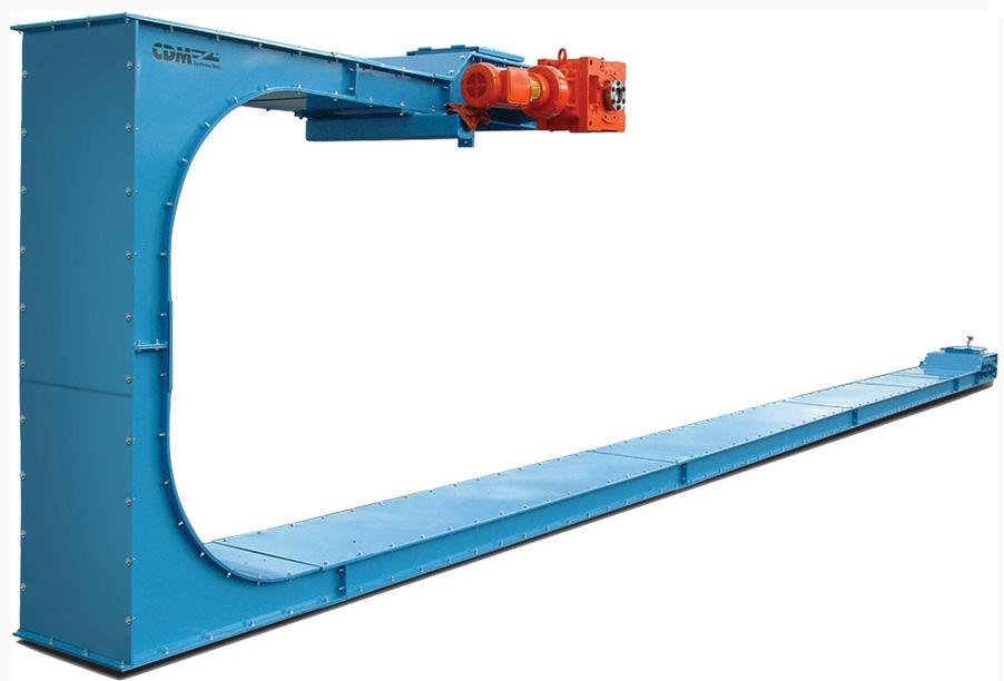 Drag chain conveyor / for bulk materials / drag / horizontal