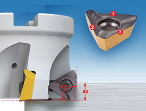 Shell-end milling cutter / indexable insert / roughing