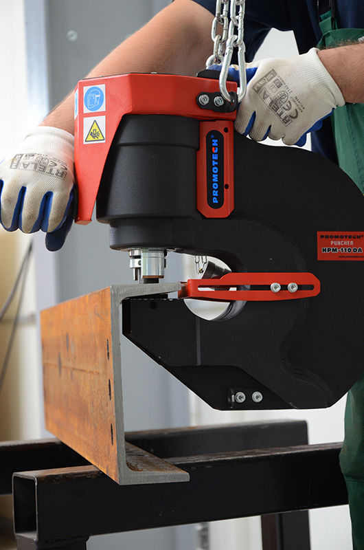 Manual punching unit / hydraulic / plate / portable - PRO