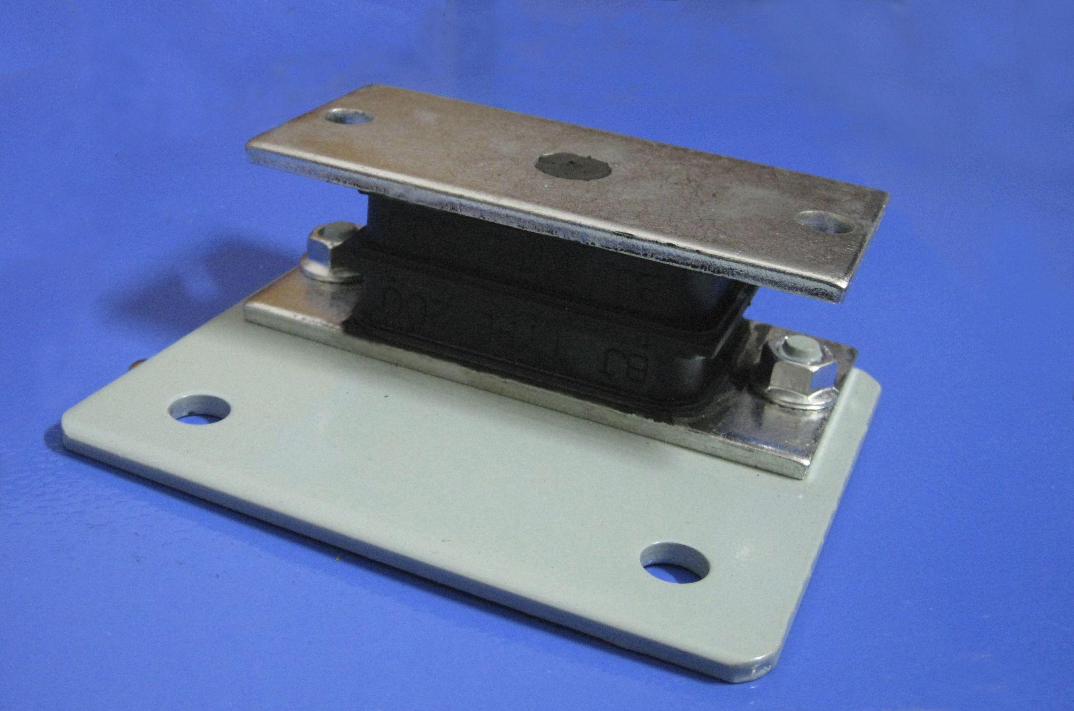 Rectangular anti-vibration mount / rubber / for blowers - BJ