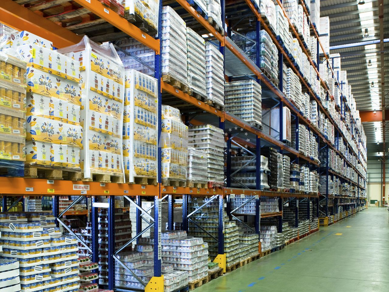 pallet shelving / storage warehouse / for heavy loads - meca storage