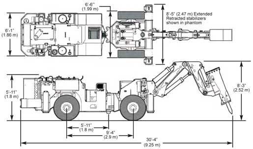 Underground rock breaker - 14 570 kg | TM12 - Breaker