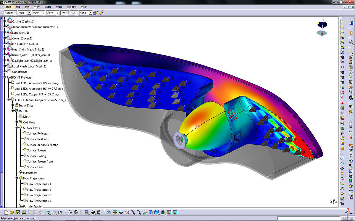 CFD software / fluid dynamics simulation / embedded / analysis FloEFD CATIA  V5 Mentor Graphics
