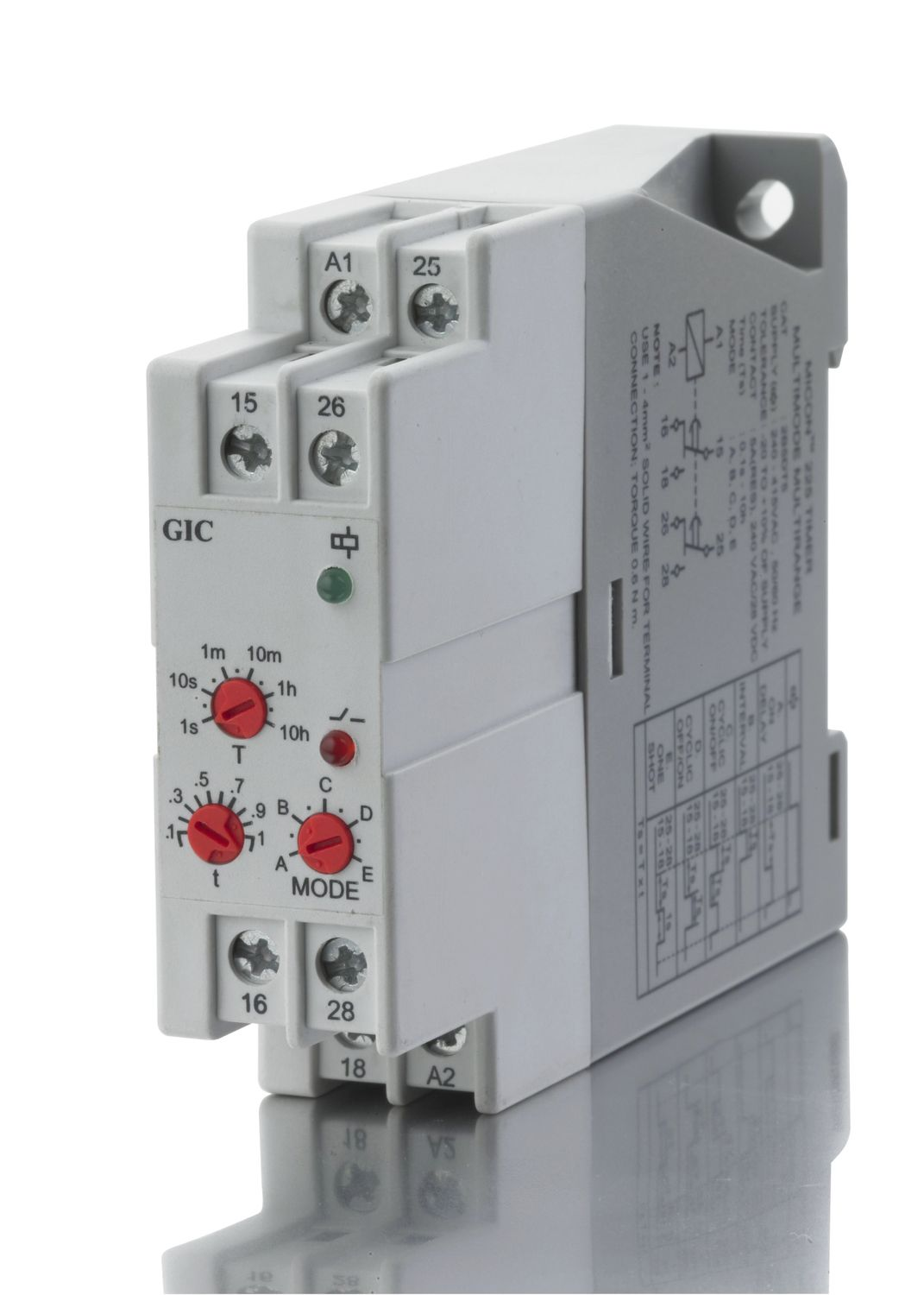 Digital Timer Multi Function Din Rail 24 240 V Micon 225 Circuit Breaker With
