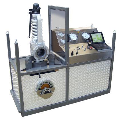 Pressure Test Bench Vc25sp T4 Ventil Test Equipment Bv Safety Valve Mobile