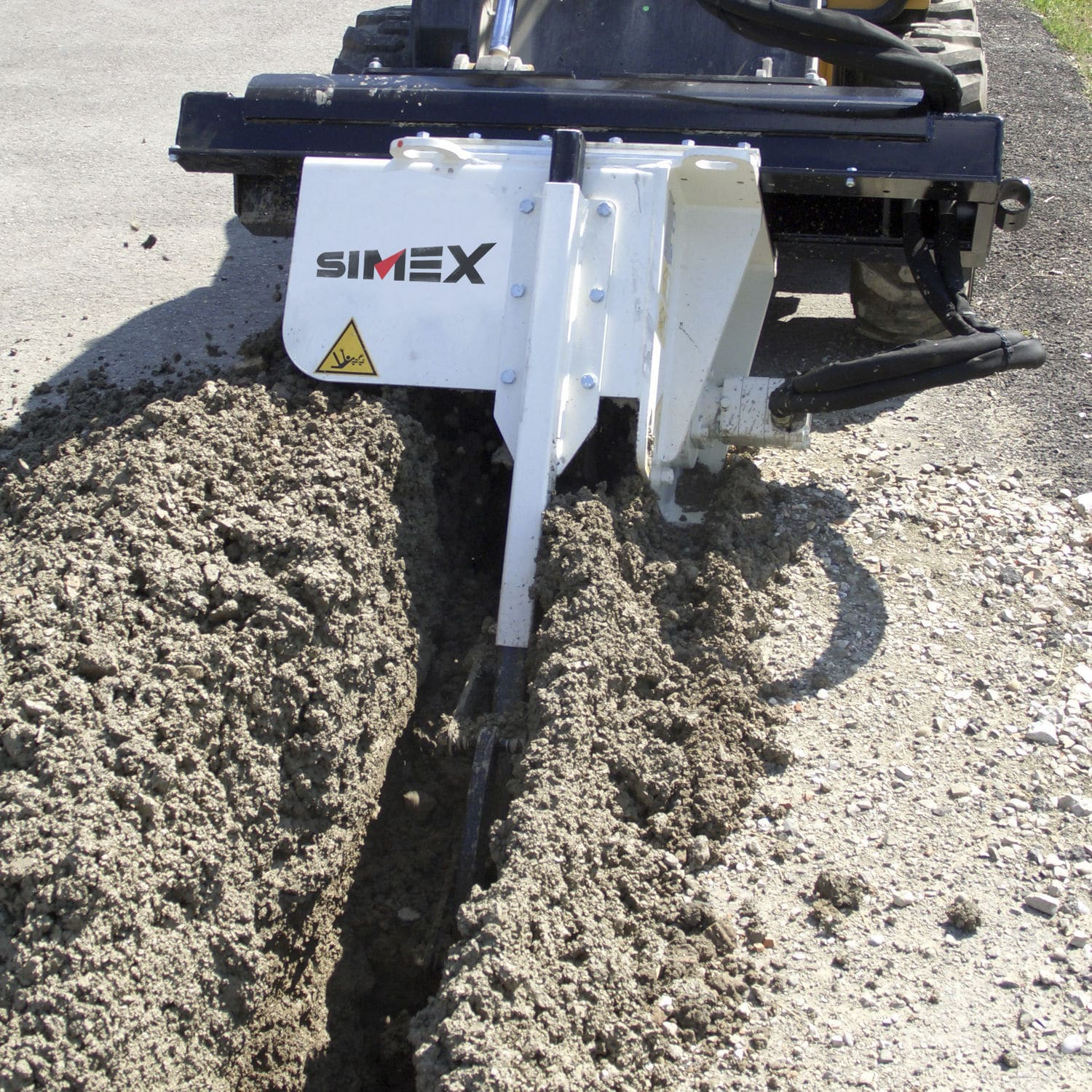 Chain trencher / tracked / for skid steer loaders CHD 90 Simex S r l