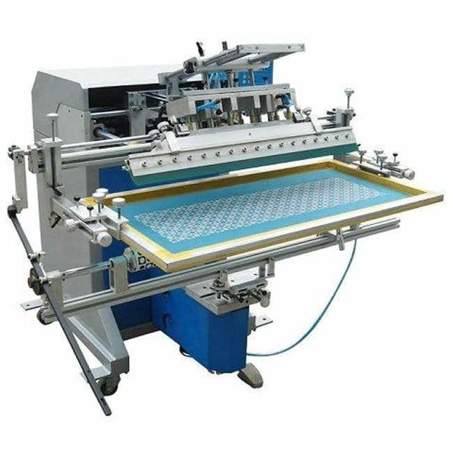 Automatic screen printing machine / multi-color / for plastic tubes