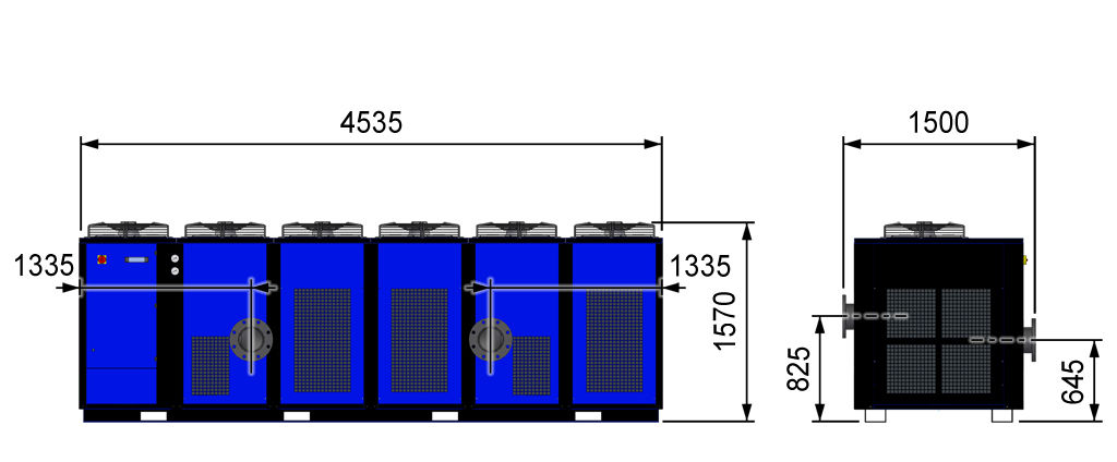 Refrigerated compressed air dryer / low-pressure / high