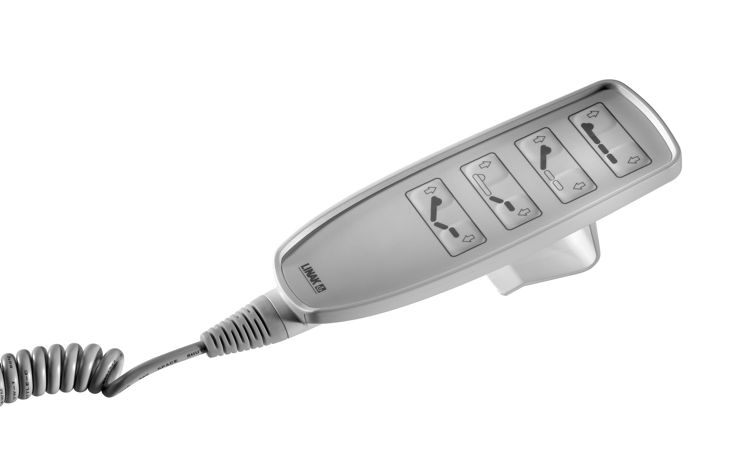 Corded remote control / with buttons / linear actuator / for medical