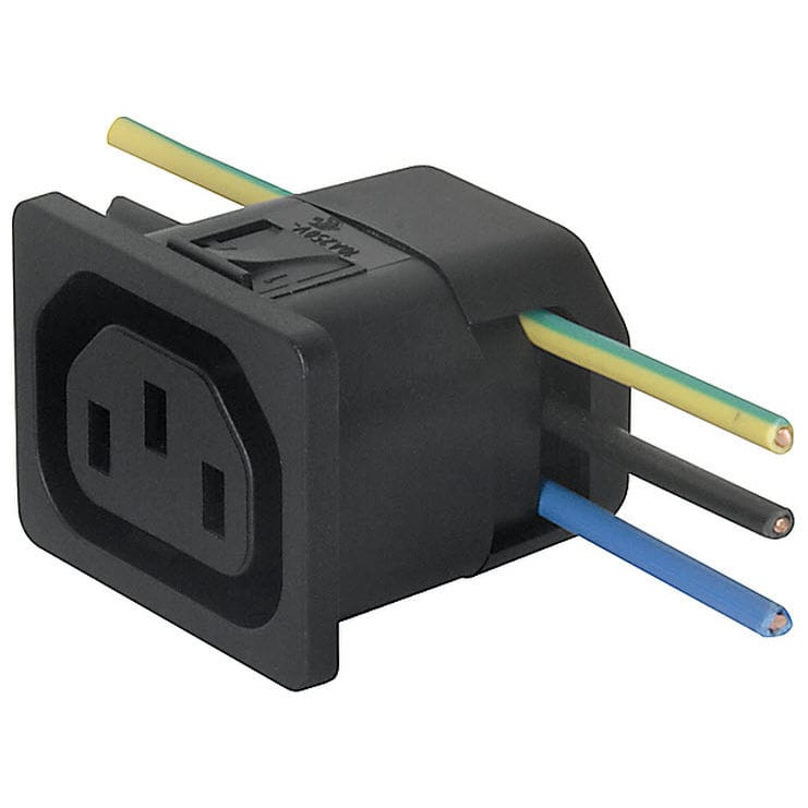 Electrical power supply connector / DIN / rectangular / snap