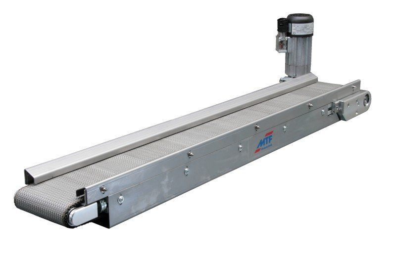 Belt conveyor / horizontal / mesh belt - IS - MTF Technik
