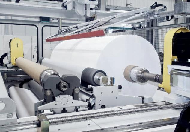 Plastic film unwinding/rewinding line - SML Maschinengesellschaft