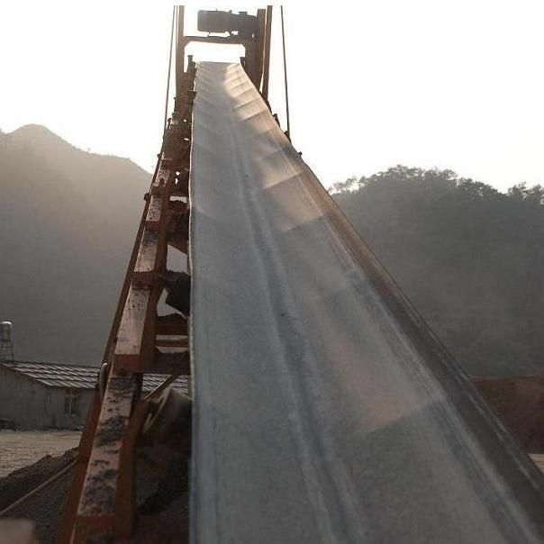 Rubber conveyor belt / abrasion-resistant / fire-resistant