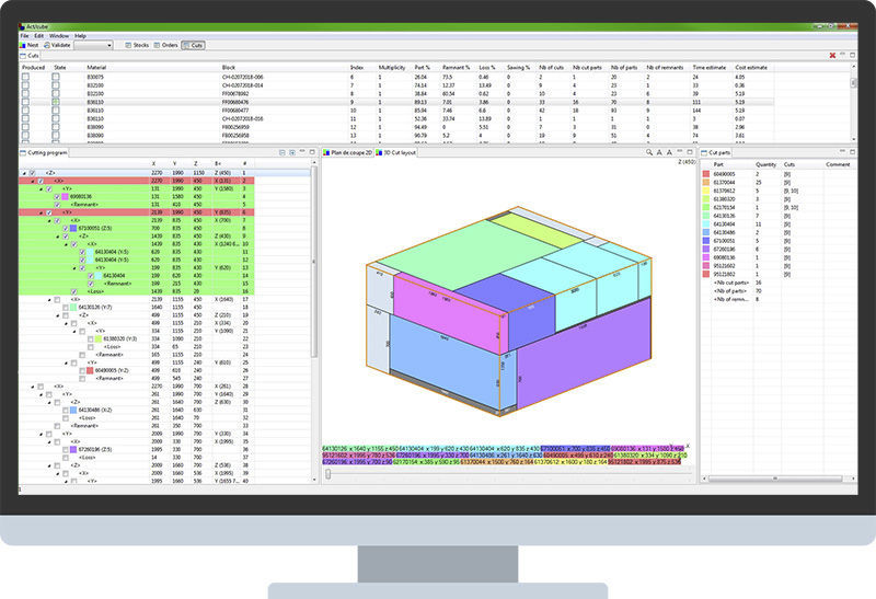 3D nesting software / cutting - almaCube - ALMA