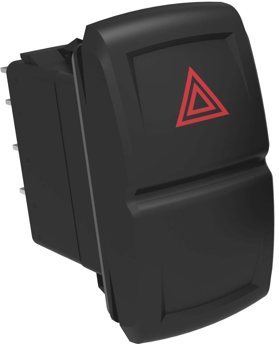 Rocker switch / single-pole / 2-pole / illuminated - V
