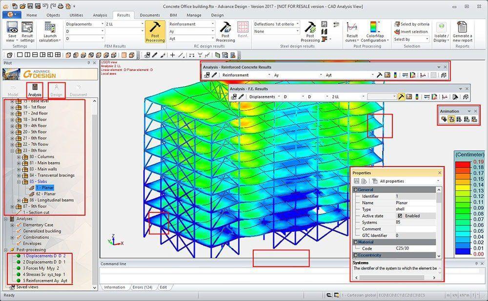 Structural Analysis Software Advance Design Graitec Engineering Modeling Design