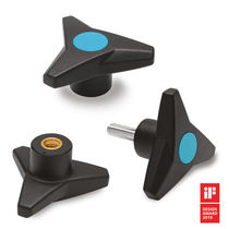 Threaded knob / three-lobe / technopolymer / ergonomic