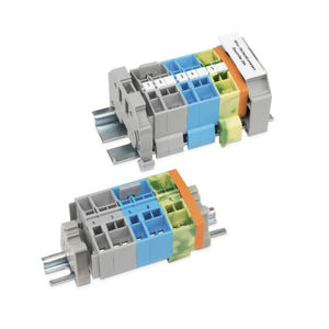 miniature terminal block / spring cage connection / DIN rail-mounted / feed-through