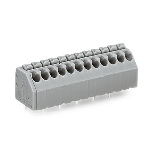 push-in terminal block / screwless / spring cage connection / lever-operated