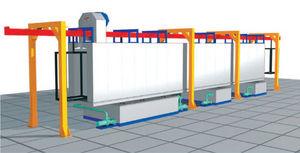 spray washing tunnel / degreasing
