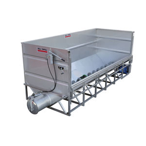 tank with screw conveyor / process / for the wine industry / stainless steel
