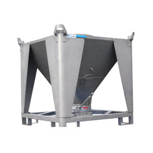 stainless steel IBC container / for bulk materials / storage / transport