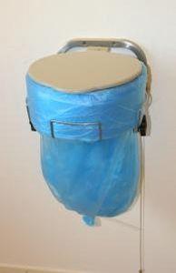 plastic waste bin / industrial waste / with lid