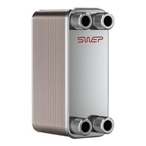 brazed plate heat exchanger / liquid/liquid / stainless steel / copper
