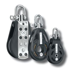 rotating lifting pulley / for cables / with shackle