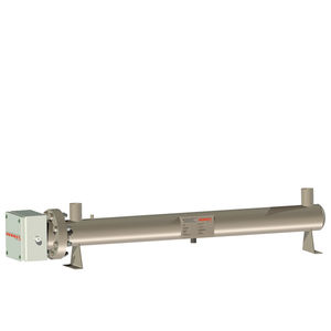 circulation heater / water / stainless steel / flange