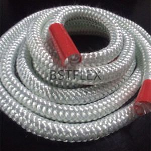 braided fiberglass packing / refractory / for heat insulation