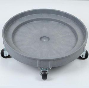 drum dolly / circular / heavy-duty / plastic