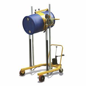 lifting stacker truck / manual / walk-behind / drum-handling