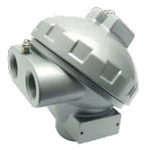 connection head with dual entry / aluminum / for temperature sensors