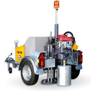 trailer-mounted core drilling machine
