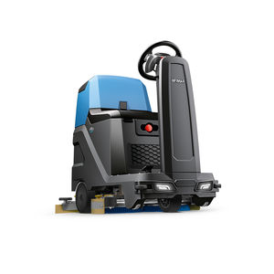 ride-on scrubber-dryer / battery-powered / compact